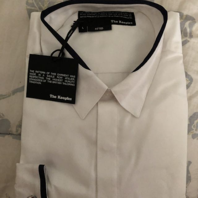 4ec4e02bd3 The kooples white shirt, Men's Fashion, Clothes on Carousell