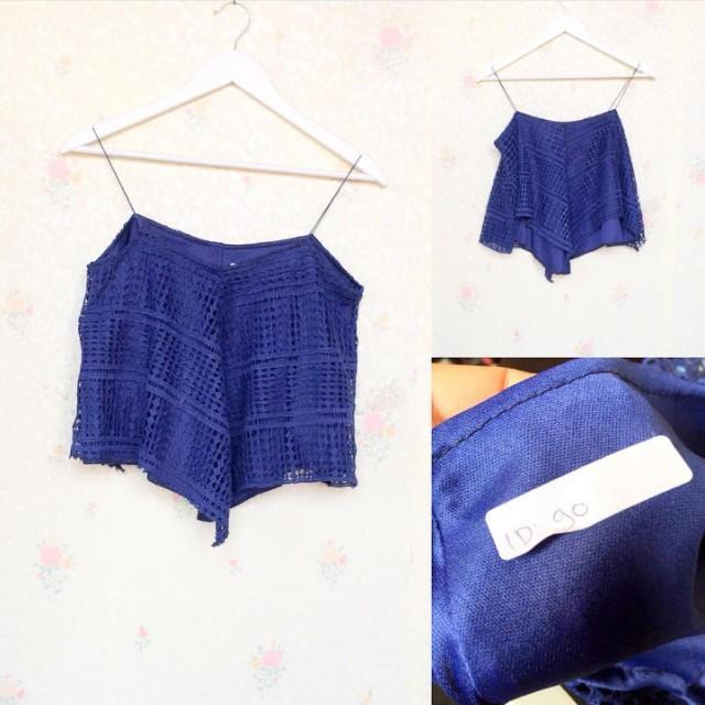 top crochet blue