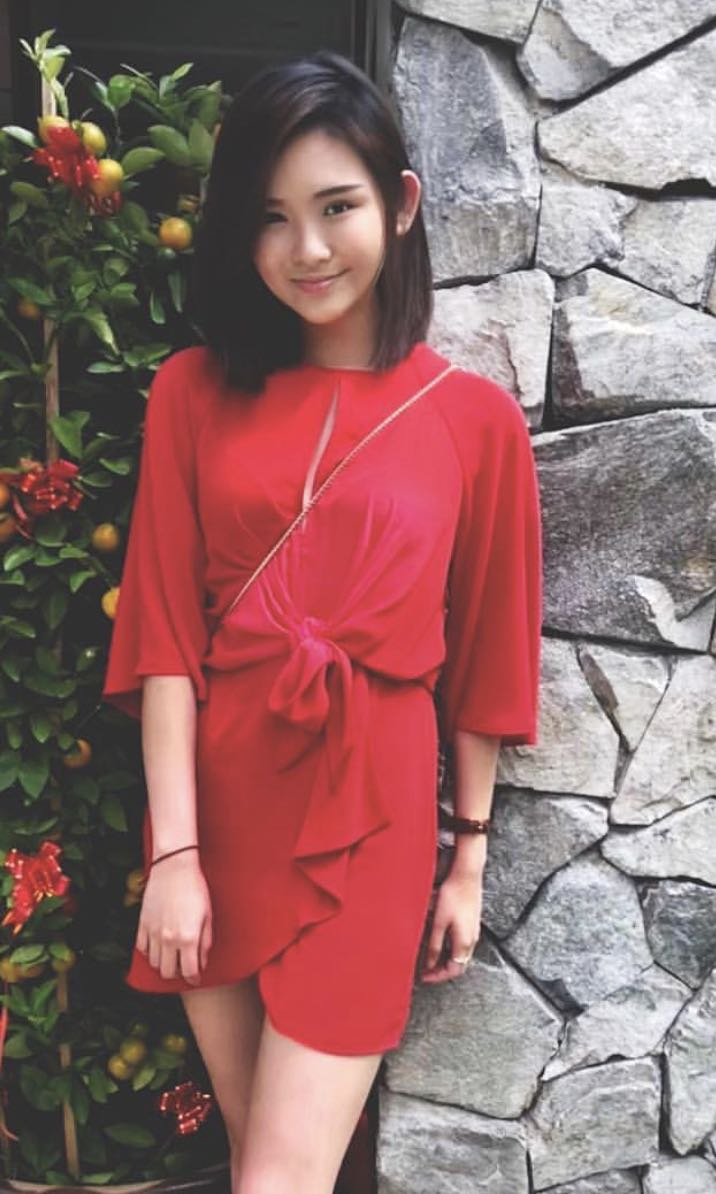 Topshop red wrap dress