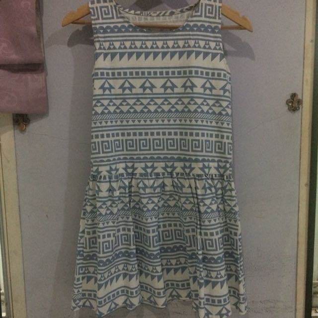 Tribal Blue Dress
