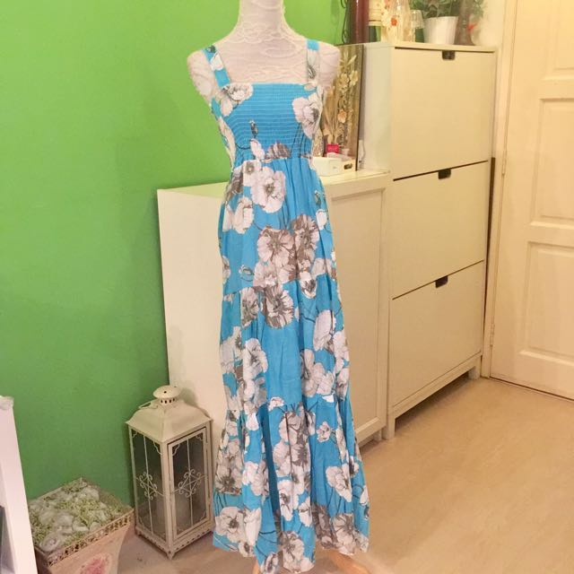 Turquoise Floral Maxi