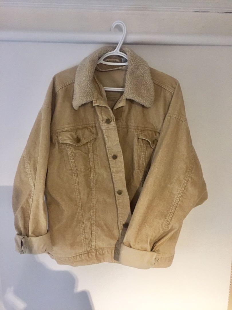 Urban Renewal Corduroy Shearling Jacket XL