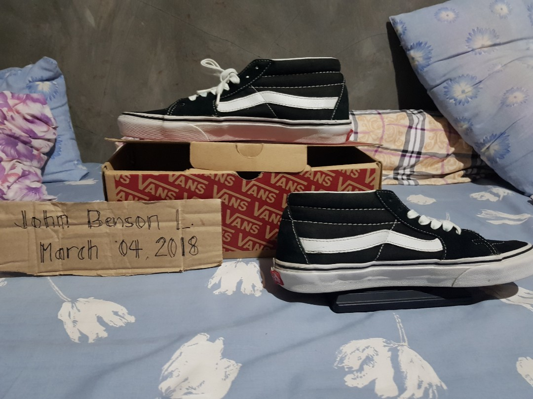 Vans Sk8 Mid Black And White a35a6d9fb313
