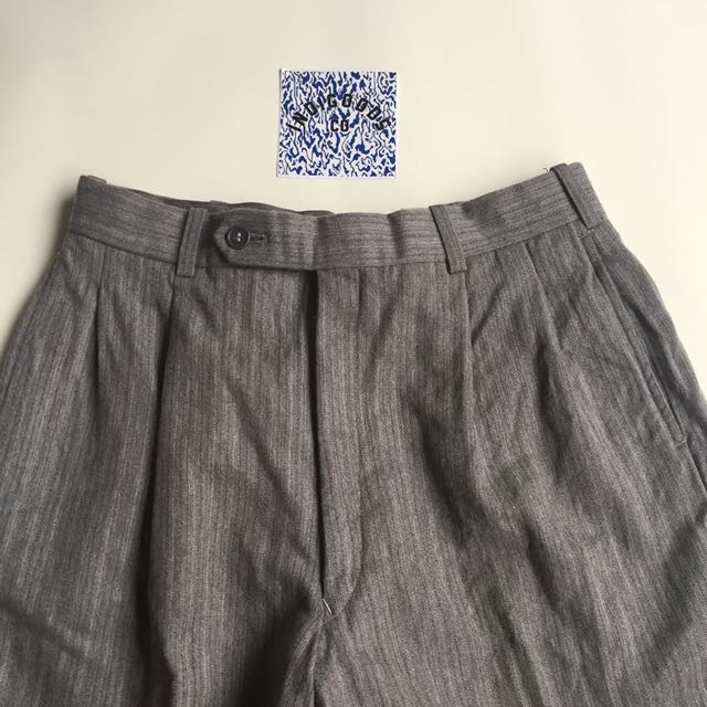 Vintage Cotton Tweed Grey Trouser Pants by Play Lord