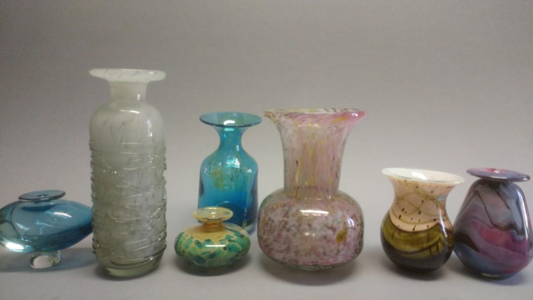 Vintage Medina Art glass lot & Gozo glass. Signed