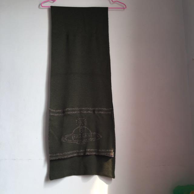 Vivienne Westwood 墨綠針織圍巾