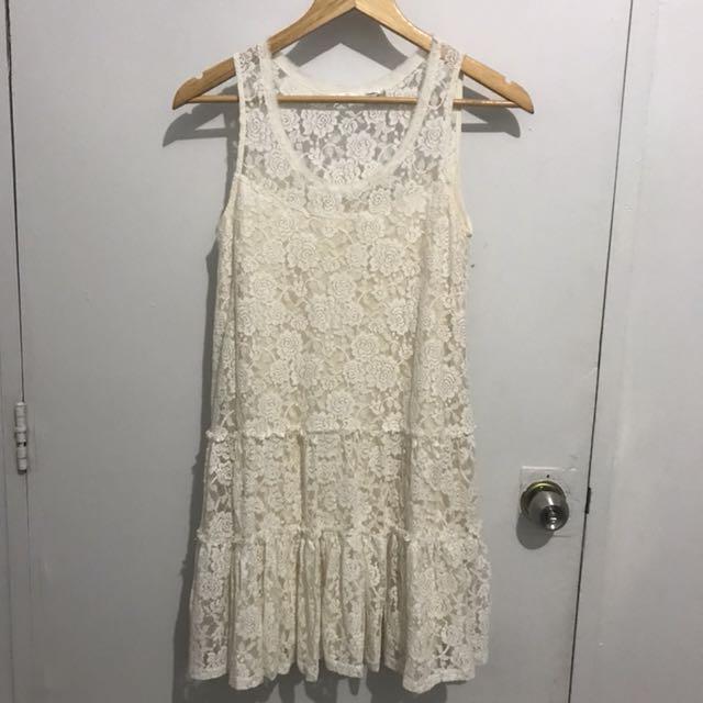 White Lace Dainty Dress