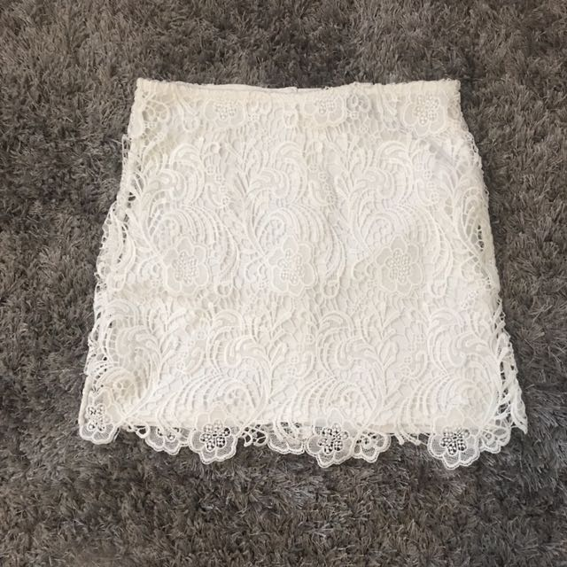 White Lace Skirt