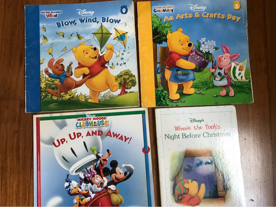 Winnie the Pooh/Mickey Mouse books, Books & Stationery, Children's Books on  Carousell