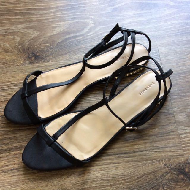Zara black studded sandals