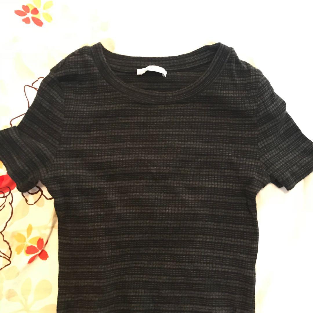 Zara cropped shirt