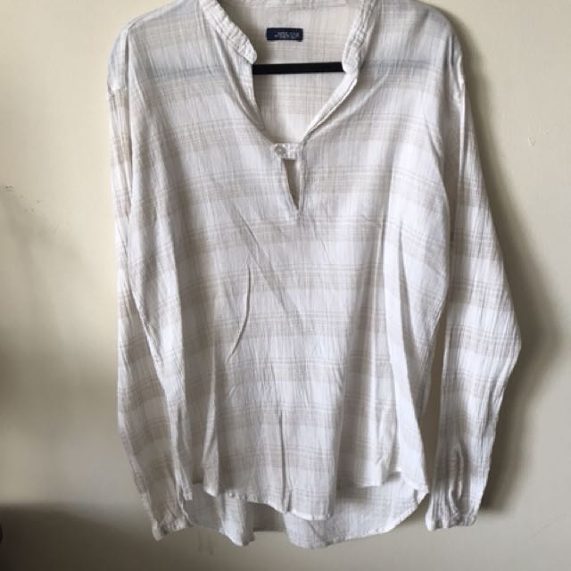 Zara man long sleeve shirt: size XL