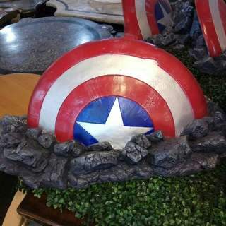 Captain America shield wall display