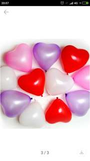 Love Shape Latex Balloon