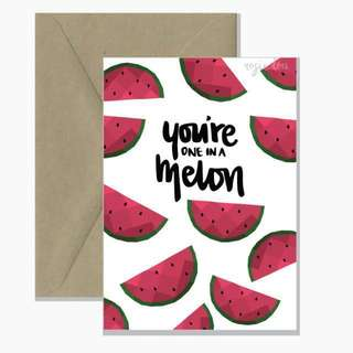 """One in a Melon"" Greeting Card from Australia"