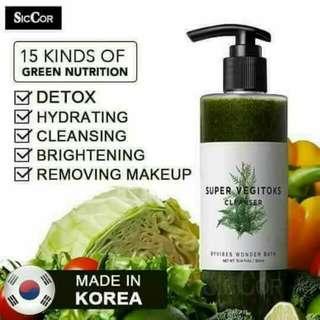 韩国蔬菜洗脸卸妆乳