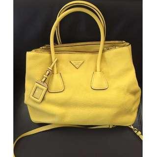 🎃代母放袋 Prada 黃色手挽袋/上肩包