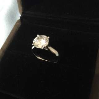 1.5ct Moissanite diamond ring