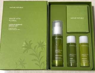 ‼️(SALES) BN Nature Republic White Vita Flora Capule Essence Special Set