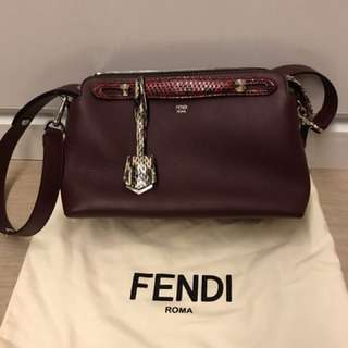 Fendi by the way burgundy with snake skin