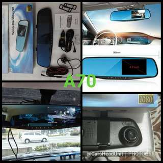 Dashcam with rear camera