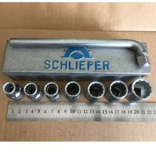 Hand Tool - Schlieper 8 piece Socket Set (Made in Germany)