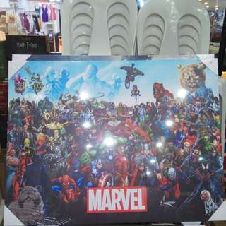Marvel and DC comics silkscreen frame poster