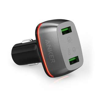 Anker PowerDrive+ 2 42W Dual USB Car Charger with Quick Charge 3.0
