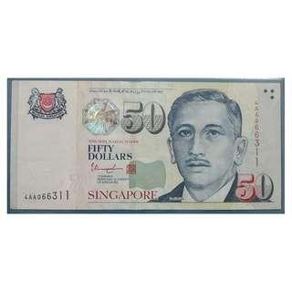 Singapore Portrait Series $50 Banknote 066311