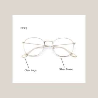 unisex silver plain glasses