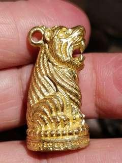 Thai Amulet Tiger Sit