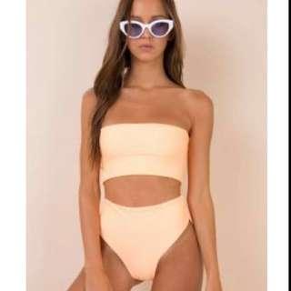 Fluro Orange bikini set AUS size S