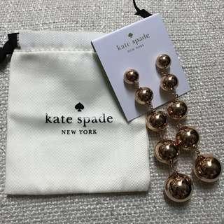 [全新]Kate Spade玫瑰金色耳環(包郵)