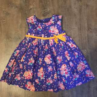 Mothercare Indigo Floral dress (for 9-12 months)