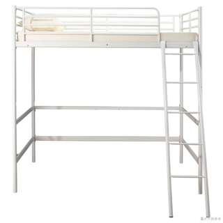 """實惠 95%NEW 36"""" x 72"""" 鋼製高架單人床 - 白色"""
