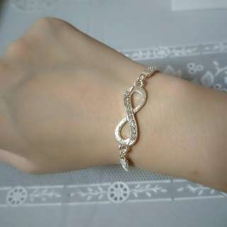Silver-Plated Infinity Bracelet