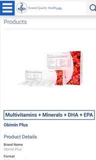 Obimin Plus Vitamins (100pcs/box)