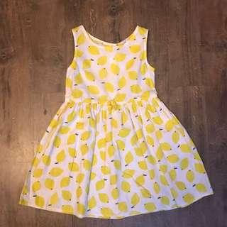 H&M Yellow Lemon Dress for 3-4 yo