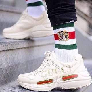 Gucci sneaker Gucci Rhyton logo leather Sneaker 波鞋 澳洲代購 Gucci 代購