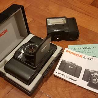 Functioning! MINOX 35 GT film camera with flash (MINOX FC 35)