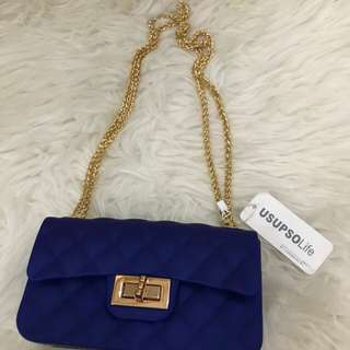 Usupso jelly bag chain blue electric