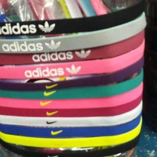 Adidas and Nike Hairband one size No slip gel grip