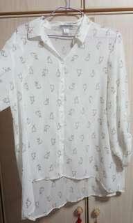 Cotton On Bunny-Printed Sheer Top