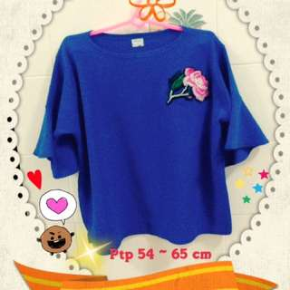Embroidery blue top