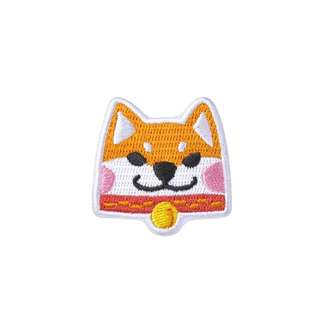 [Instock] Shiba Inu Embroidery Brooch By Mark The Universe