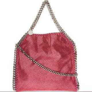 STELLA MCCARTNEY Pink Shiny Dot Mini Falabella Tote