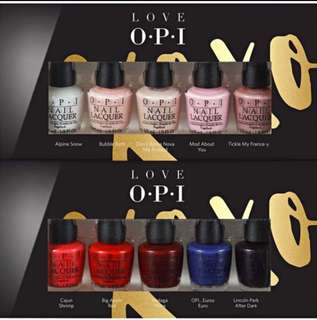 BN OPI 10 piece mini XoXo 3.75ml each