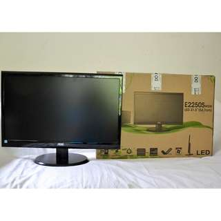 "New Full HD AOC e2250Swdn Black 22"" 5ms Widescreen LED Backlight Monitor"