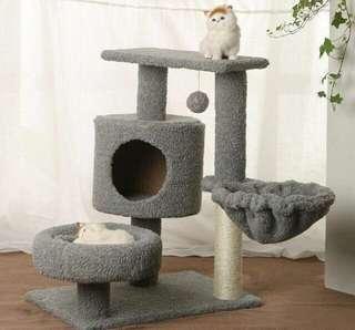 [INSTOCK] Smoke Grey Cat Condo (w/o hammock)