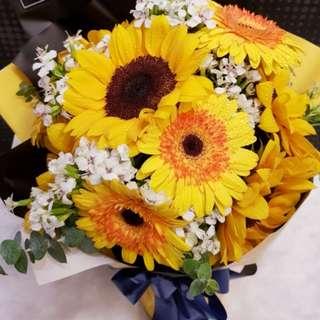 Sunflower & Daisy Bouquet